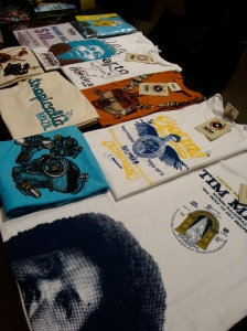 the merch table