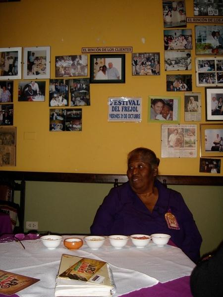 """Teresa Izquierdo founder of """"el rincon que no conoses"""" restaurant"""