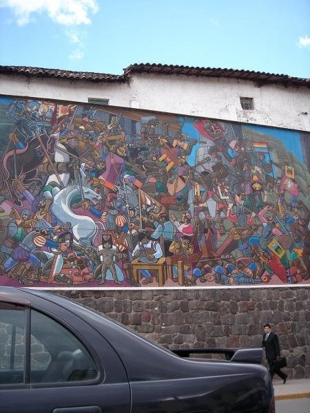 pintura en calle cuzqueña I