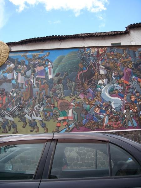 pintura en calle cuzqueña II