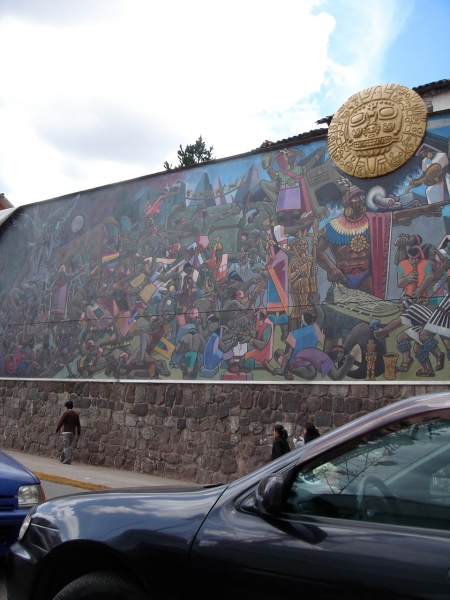 pintura en calle cuzqueña III