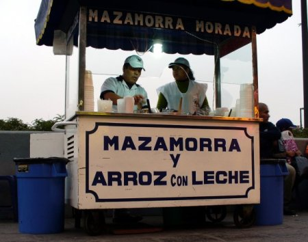 mazamorra y arroz con leche (pudding)