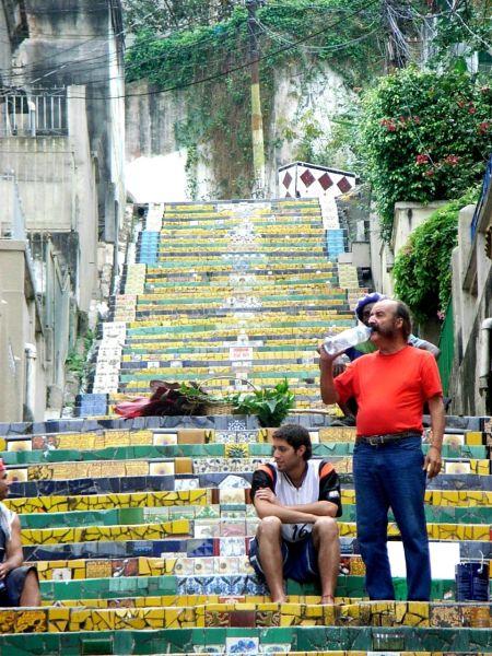Rio 08 Selaron and friend