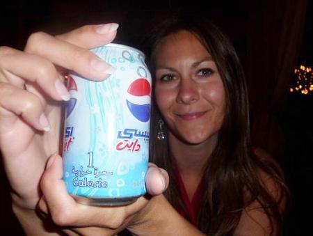 Bronwyn Loves her Diet Pepsi - Arab Style!