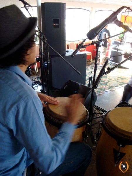 Carlos rehearsing