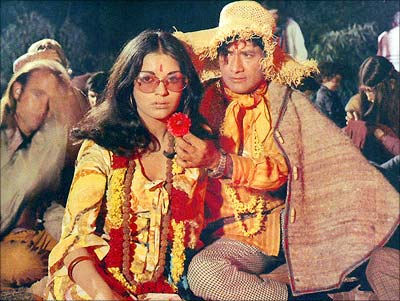 Image result for dev anand hare rama hare krishna